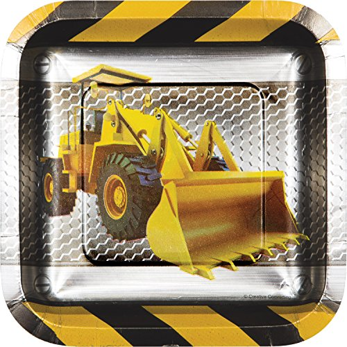 Birthday Zone Construction Dessert Plates, 24 ct