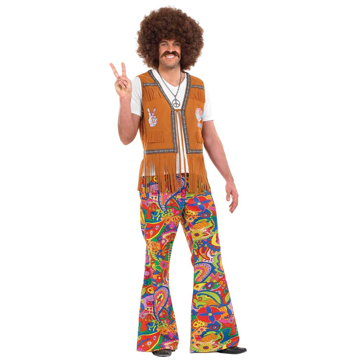 60s , 70s Hippie Clothes for Men fun shack Mens 70s Hippie Costumes Adults 60s Flower Power Hippy Suits - Choice of Styles $49.99 AT vintagedancer.com