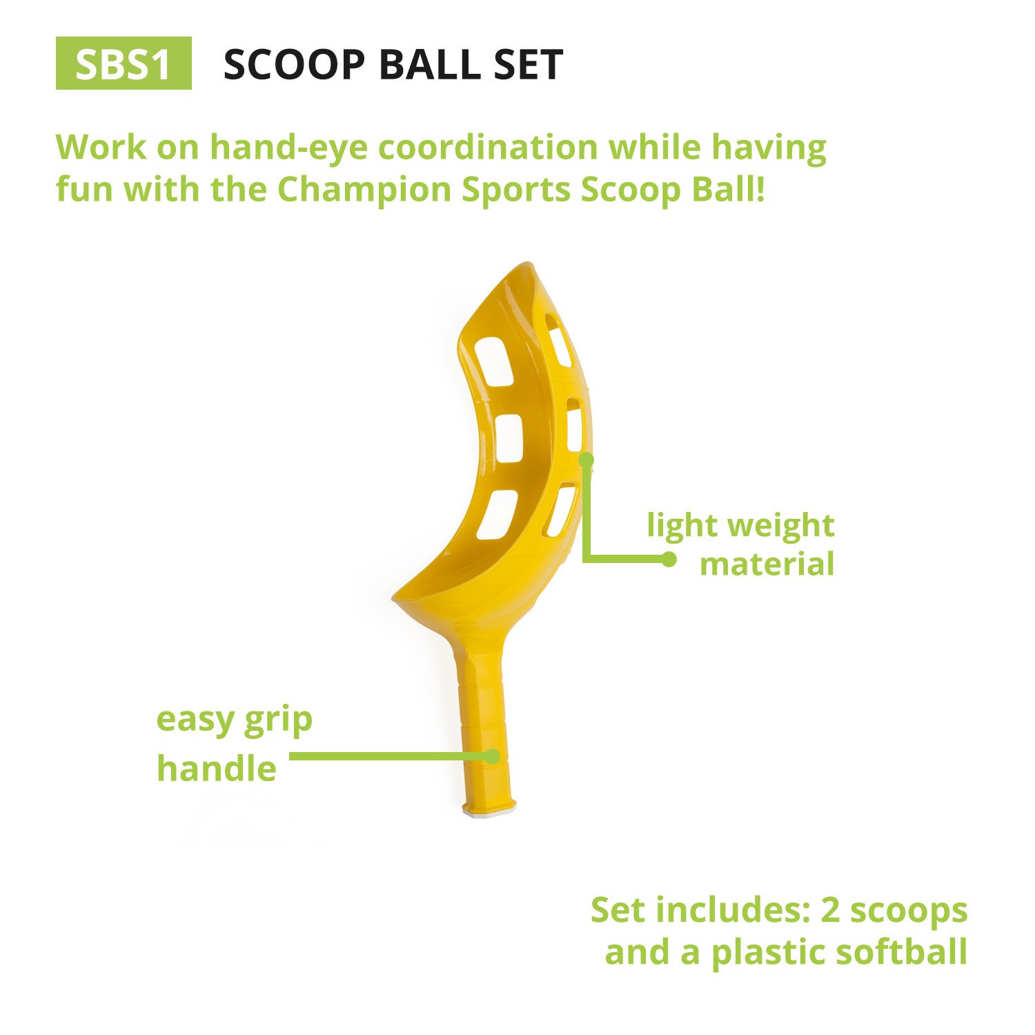 Champion Sports Scoop Ball Game: Classic Kids Outdoor Party Gear for Lawn, Camping & Beach by Champion Sports (Image #6)