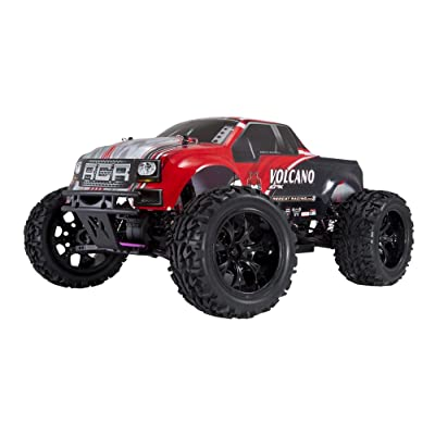 Redcat Racing Electric Volcano EPX Truck with 2.4GHz Radio,Vehicle Battery and Charger Included (1/10 Scale), Red: Toys & Games