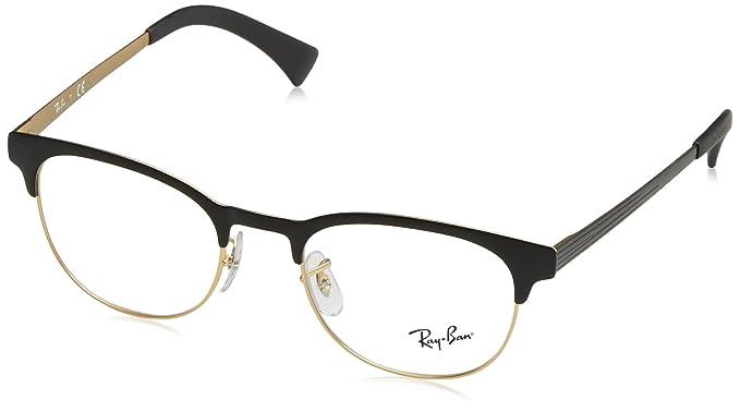 Ray-Ban Unisex-Erwachsene 6317 Brillengestelle, Schwarz (Negro), 49