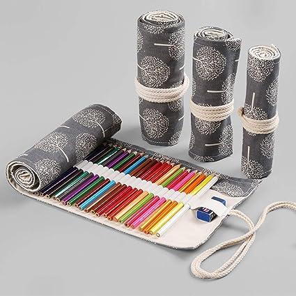 Amazon.com: Colored Pencil Roll up Case, Esdella 48 Slots ...