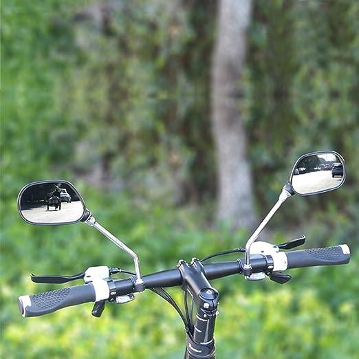 MyLifeUNIT Espejo retrovisor para bicicleta, ajustable, giratorio, espejo de cristal para manillar, seguro 360 rotación, retrovisor para bicicleta de ...