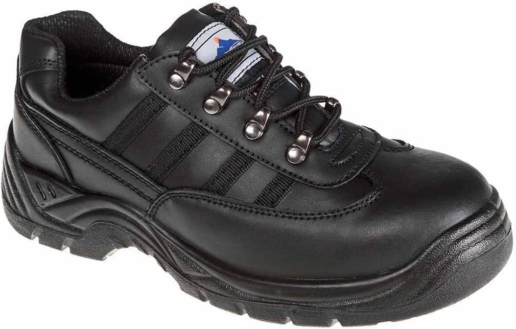 Portwest FW15BKR37 Steelite Safety Trainer Regular Size: 37 Black S1
