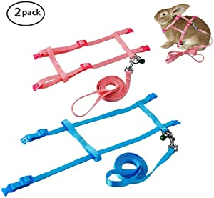 Persuper Soft Nylon Rabbit Harness and Leash