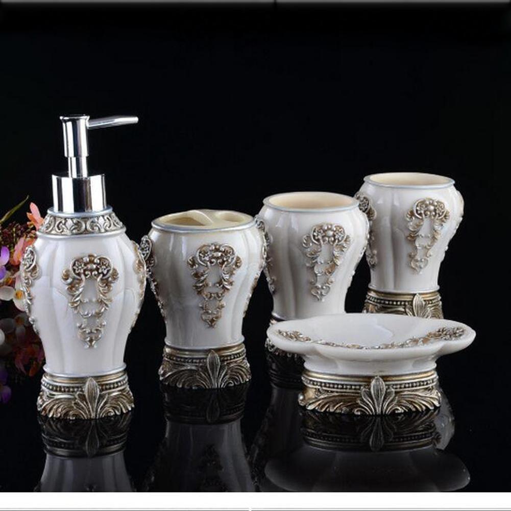 KHSKX Bagno set tazza continentale cinque pezzi bagno resina di grado superiore