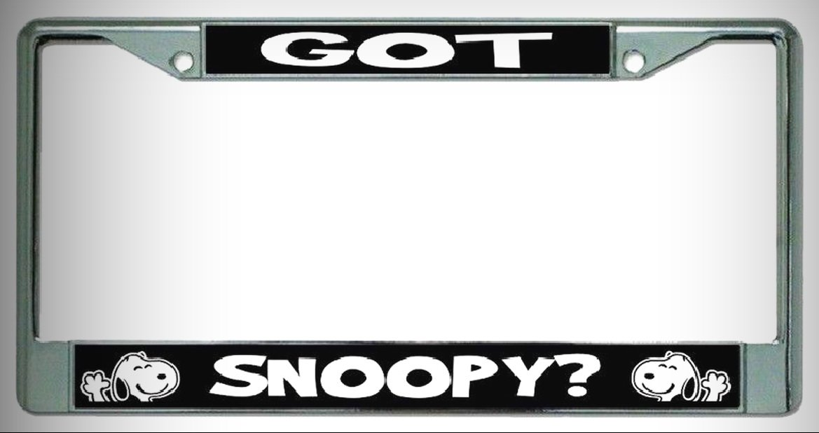 Amazon.com: GOT SNOOPY? PEANUTS CHARLIE BROWN METAL CHROME LICENSE ...