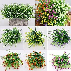 Fityle 4pcs Plastic Artificial Baby'S Breath Flower Arrangement Grass Gypsophila Flower Wedding Floral Decor 9