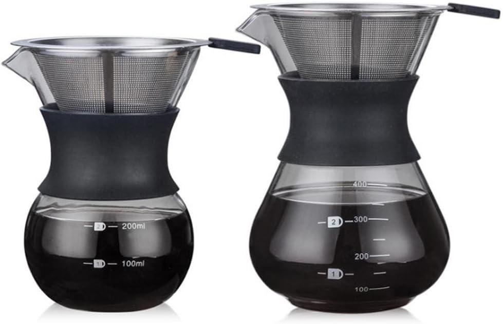 a Coffee Pot Standard Glass Coffee Jarra 200ml Househome Coffee Server 200/ml//400ml High-Temperature Resistant Glass Pour-Over Coffee Maker Coffee Maker Cup