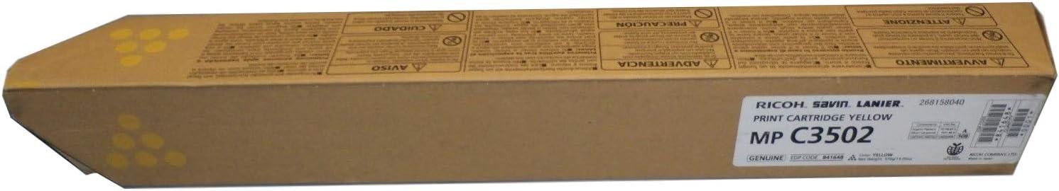 Genuine OEM brand name RICOH MP C3002//3502 Yellow Print Cartridge 841736 18K Yield 841648
