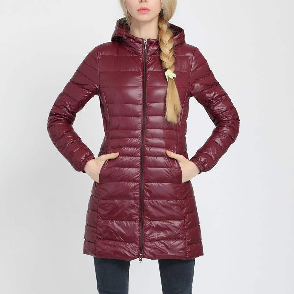 eda2282f854 Lazzboy Women Coat Jacket Long Puffer Down Quilted Weightlight Plain Hooded  Waterproof Pocket UK 6-20 Plus Size Oversized  Amazon.co.uk  Clothing