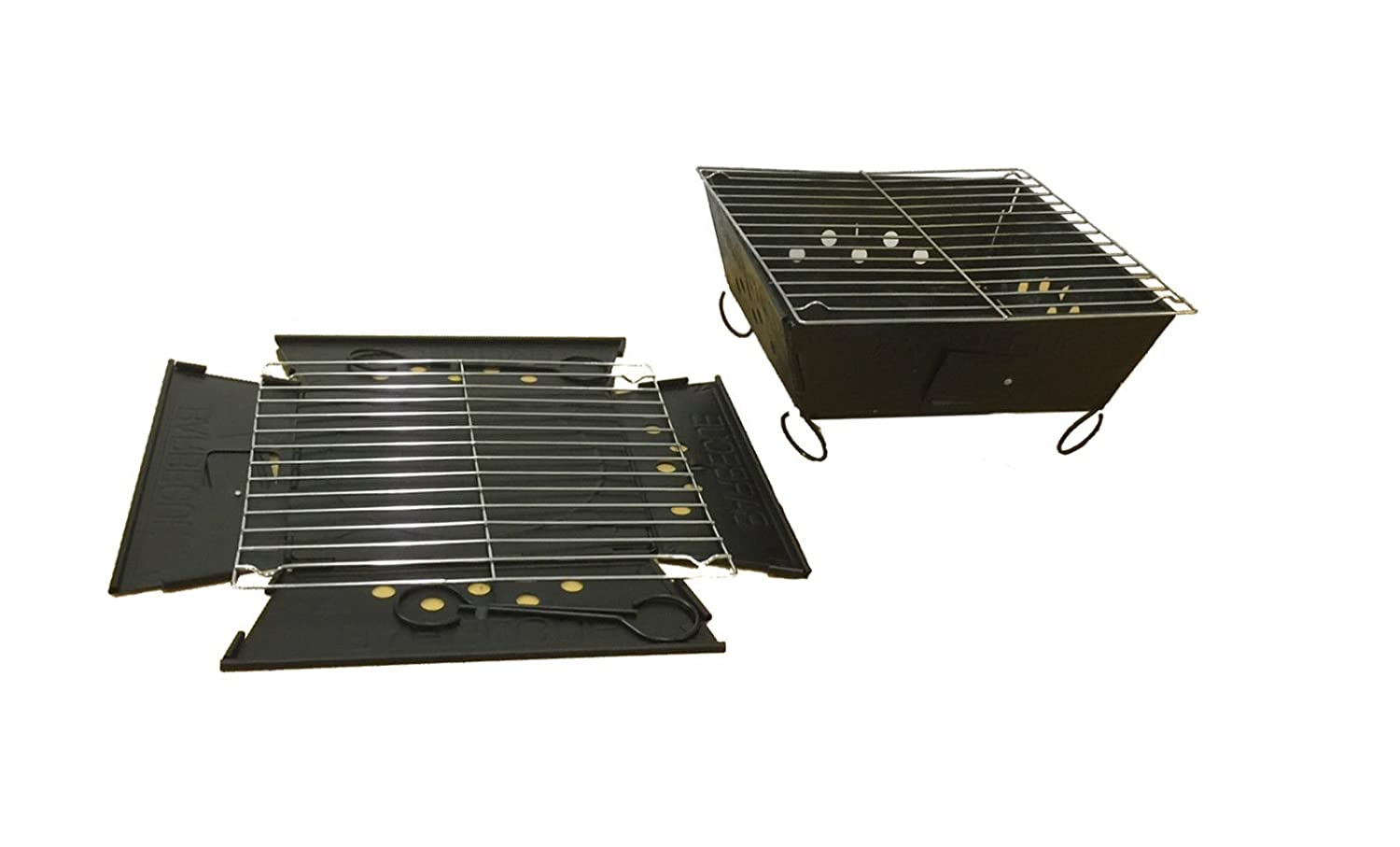 Charcoal grill bbq barbecue flat pack foldable portable for Flat pack garden decking