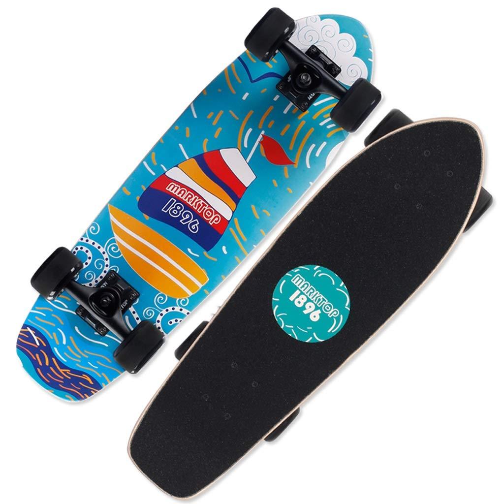 HBJP Scooter di Gioventù di personalità Multi-Scelta di principiante Adulto Multi-Piatto di Piatto di Pesce Piatto Skateboard (colore   B)
