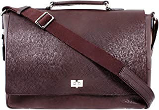 product image for Shinola Men's Large Deep Brown Leather Messenger Brief S0320056629DEEPBROWN