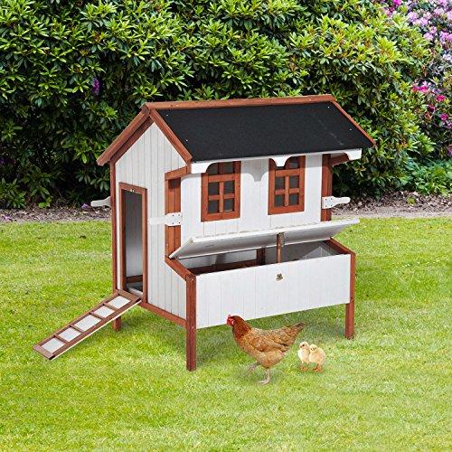 Generic y Hut Wooden Large House Door h Nes Box Roof oof Chicken Coop Hen ltry Hutch Cage Poultry n Coop H Hutch Nesting oop Hen - Hut H