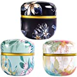 UPKOCH 3pcs Mini Metal Empty Tins Round Tin Box Flower Tinplate Containers Reusable Tinplate Box for Tea Candy DIY Candle Wedding Party Favor Gifts