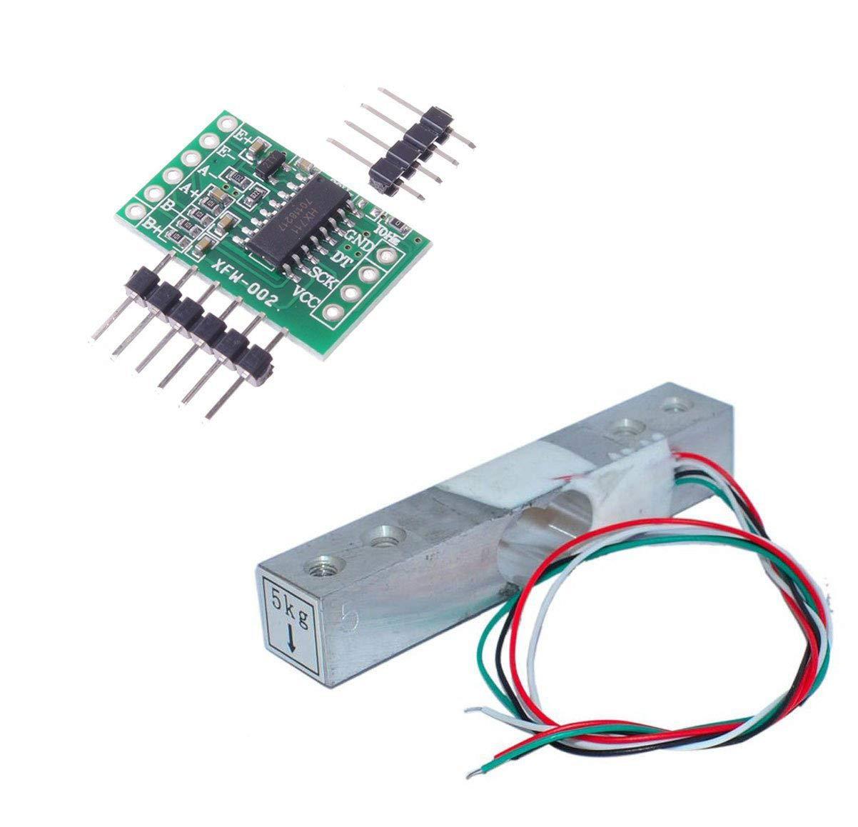 Aihasd Cella di carico digitale Sensore di peso 5KG Scala di cucina elettronica portatile + HX711 Sensori di pesatura Modulo Ad Per Arduino AX Electronic 531619134162-0