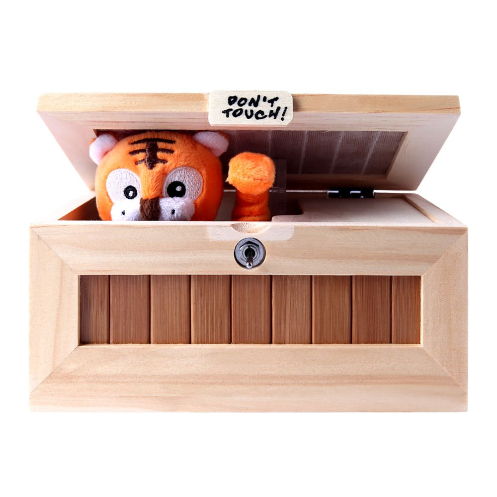 XINHOME Don't Touch Useless Box Leave Me Alone Machine-Decorative&Durable Endless Fun- Cute Tiger&Surprises Most by XINHOME (Image #2)