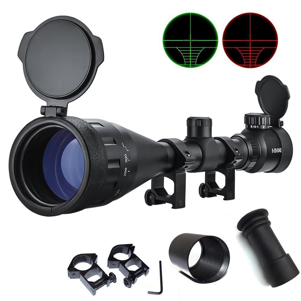 Feyachi [UPDATE] Tactical 8-32x50 AOEG Rifle Scope for Hunting Dual Red & Green Illuminated Optics Weaver/P-i-c-a-t-i-n-n-y scope