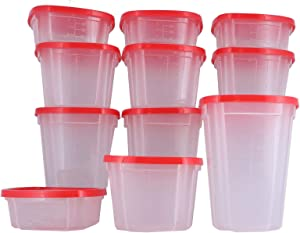 Expansion Pack for use with Swirl Around Carousel & Storage Food Containers -Red