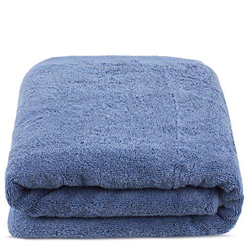 Turkuoise Premium Quality Bath Sheet, Extra Large, 100% Turkish Cotton (Wedgewood, 40×80 Inches)