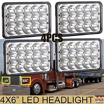 Amazon com: Cars LED Headlights for Trucks Peterbilt Mack Kenworth