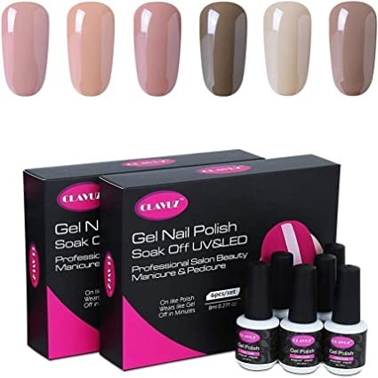 Kit de 6 esmaltes de uñas CLAVUZ, secado UV: Amazon.es: Belleza