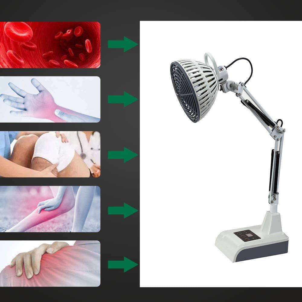 Leawell Lampada Infrarossi Medicale,CE Certificato TDP Lampada Fisioterapia Riscaldante Alleviare il Dolore,