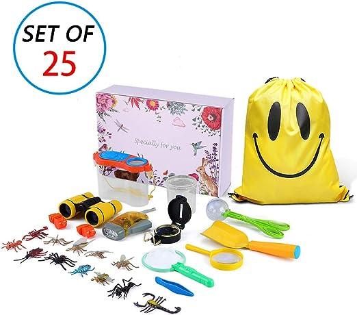 MIMIEYES Kit de exploración al Aire Libre para niños - 25 Pack Kids Adventurer Set de Regalo: Amazon.es: Juguetes y juegos