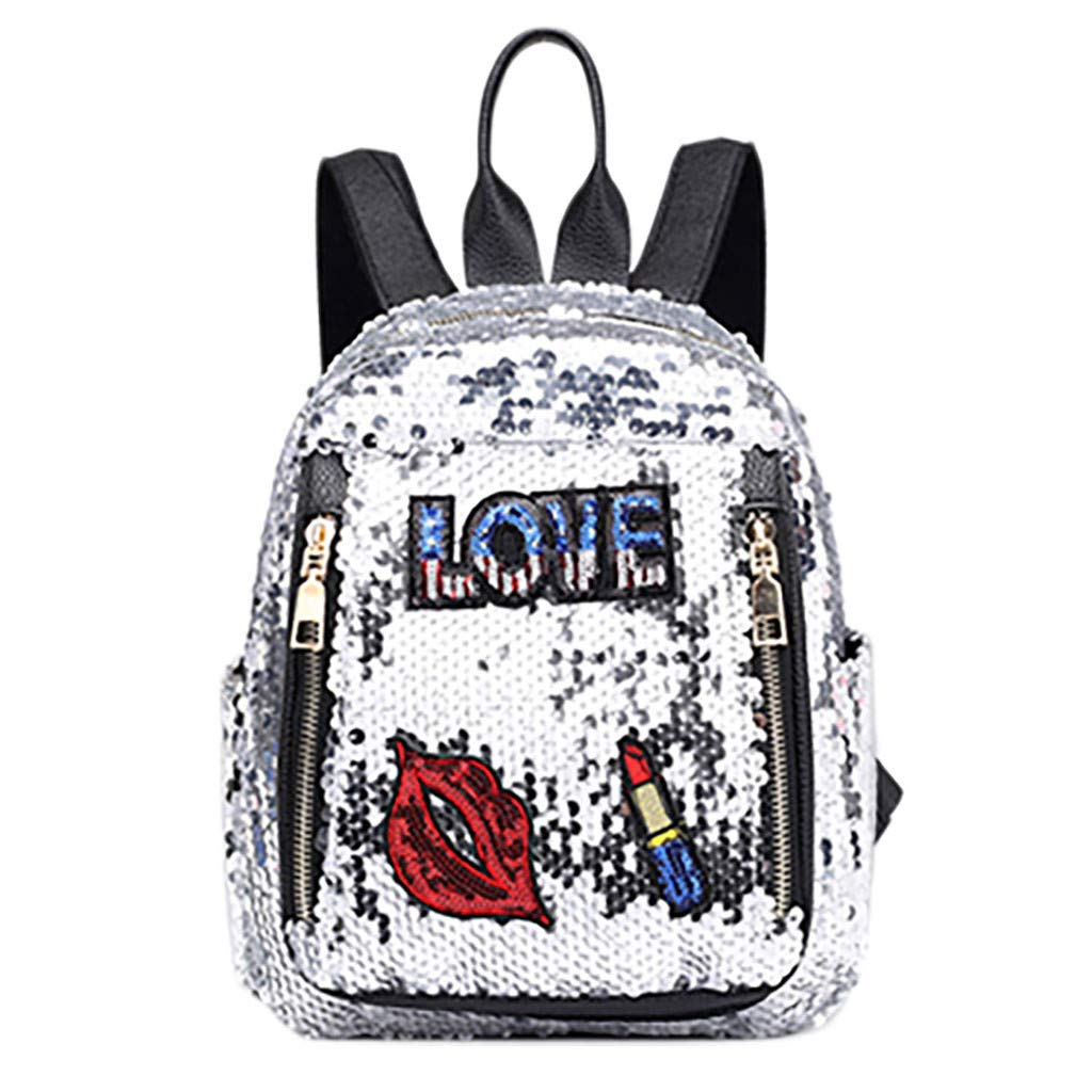 Tronet Women Fashion Backpack,Fashion Girl Sequins School Bag Backpack Travel Shoulder Bag Wild Leisure Bag