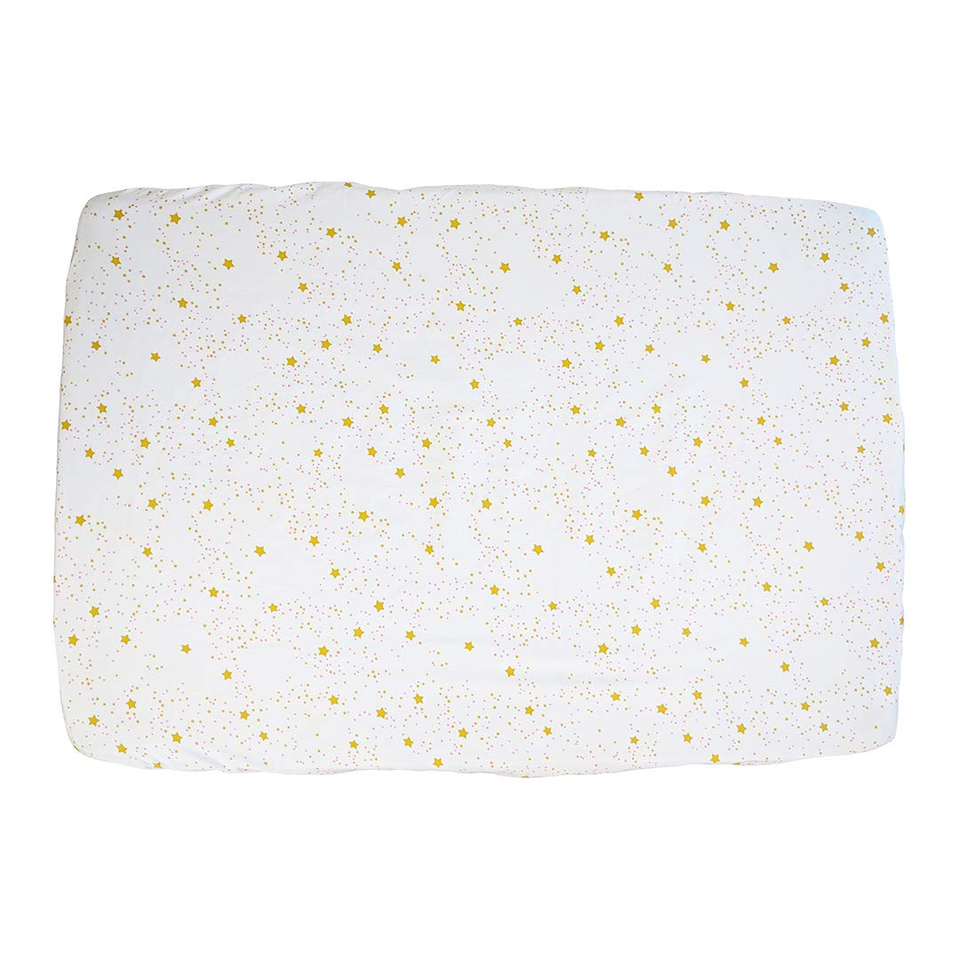 Starlight Organic Cotton Portable Playard Fitted Crib Sheet Pink 27 x 39 x 5 to Fit Pack n Play for Babies /& Toddlers