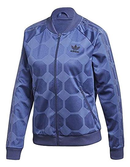 adidas Damen FSH L TT Trainingsanzüge Blau: