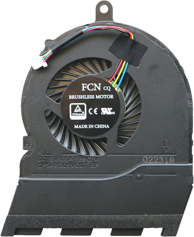 DENGHUXIE Fan for DELL Inspiron 15-5565 15-5567 17-5767 P66F CN-0789DY CN-0JMH30 CPU Cooling Fan