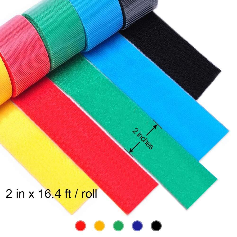 5 cm Cinta de lija de nailon reutilizable de doble cara autoadhesiva 5 colores ApexOne