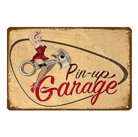 shovv Garaje Publicidad Señalización Cartel de Metal Vintage ...