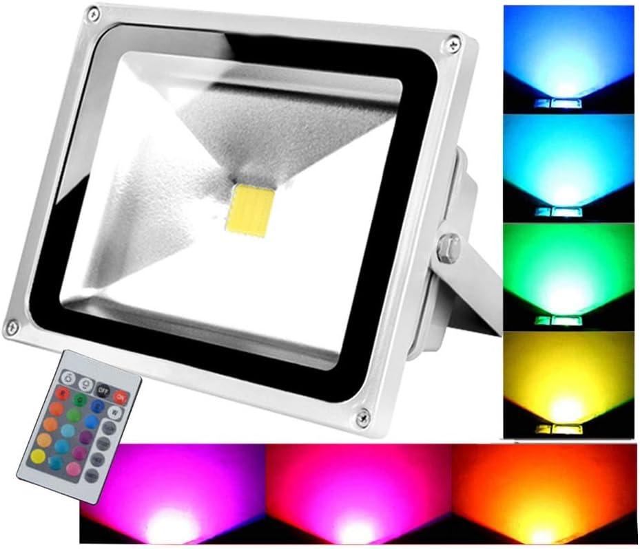 Foco LED Proyector Colores, RGB 10W20W En El Gratis Impermeable ...