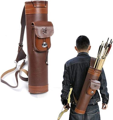Outdoor Hunting Back Quiver Shoulder Archery Bow Arrow Holder Pouch Belt Bag UK