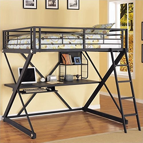 Powell Z-Bedroom Full Size Loft Study Bunk Bed (Powell Kitchen Bed)