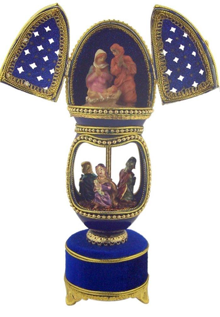 最高の The Greatest GiftのすべてHoly Family in純正Goos with Wise Family Men in純正Goos The Egg音楽ボックス B00NC7488I, R&K リサイクルキング:a3999432 --- arcego.dominiotemporario.com