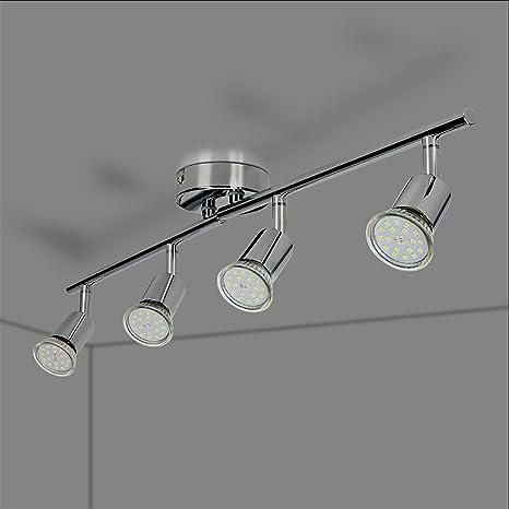 Lampe Leuchte GU10 Eisen 12 Watt 1000 lm LED Deckenleuchte Deckenlampe 4-flg