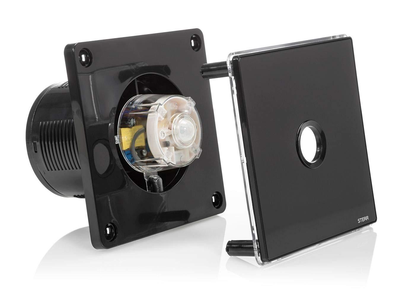 STERR Black Bathroom Extractor Fan with LED Backlight and PIR Sensor 100 mm BFS100LP-B 4