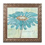 Spa Daisies I Artwork by Chris Paschke, 11 by 11-Inch, Gold Ornate Frame