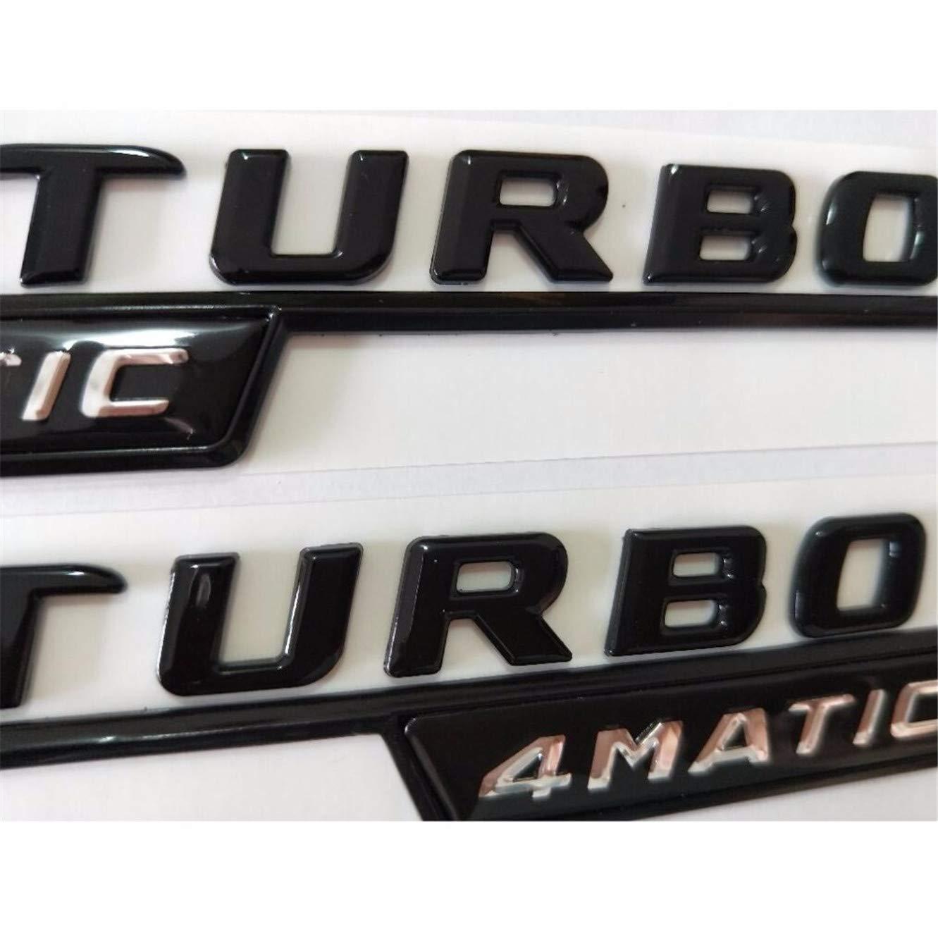 GLA 45 Gloss Glossy Black Fender Trunk Lid Emblem Emblems Badges W176 W177 A45 X117 CLA45 X156 GLA45 AMG TURBO 4MATIC