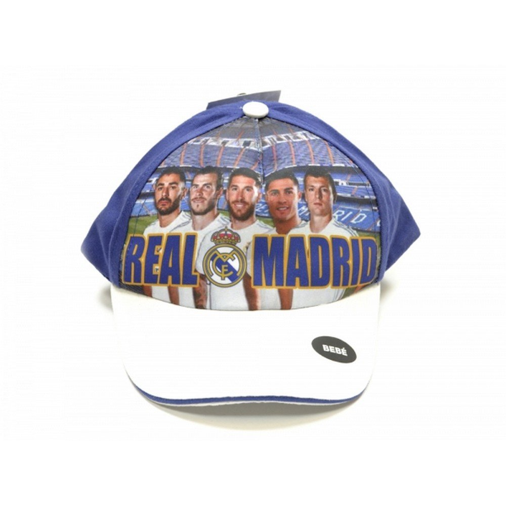 Real Madrid CF Official - Gorra para Niños (Modelo Único/Blanco/Azul): Amazon.es: Ropa y accesorios