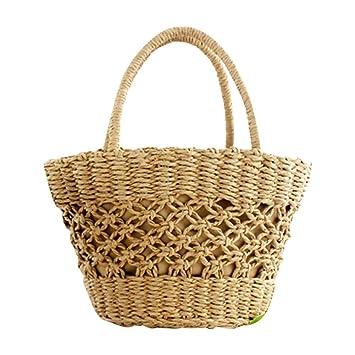 Favourall Bolsa de Playa Tejida, Bolsa de Playa con patrón Tejido Bolsa de Asas para la Bolsa de Playa de Verano para Mujeres: Amazon.es: Hogar