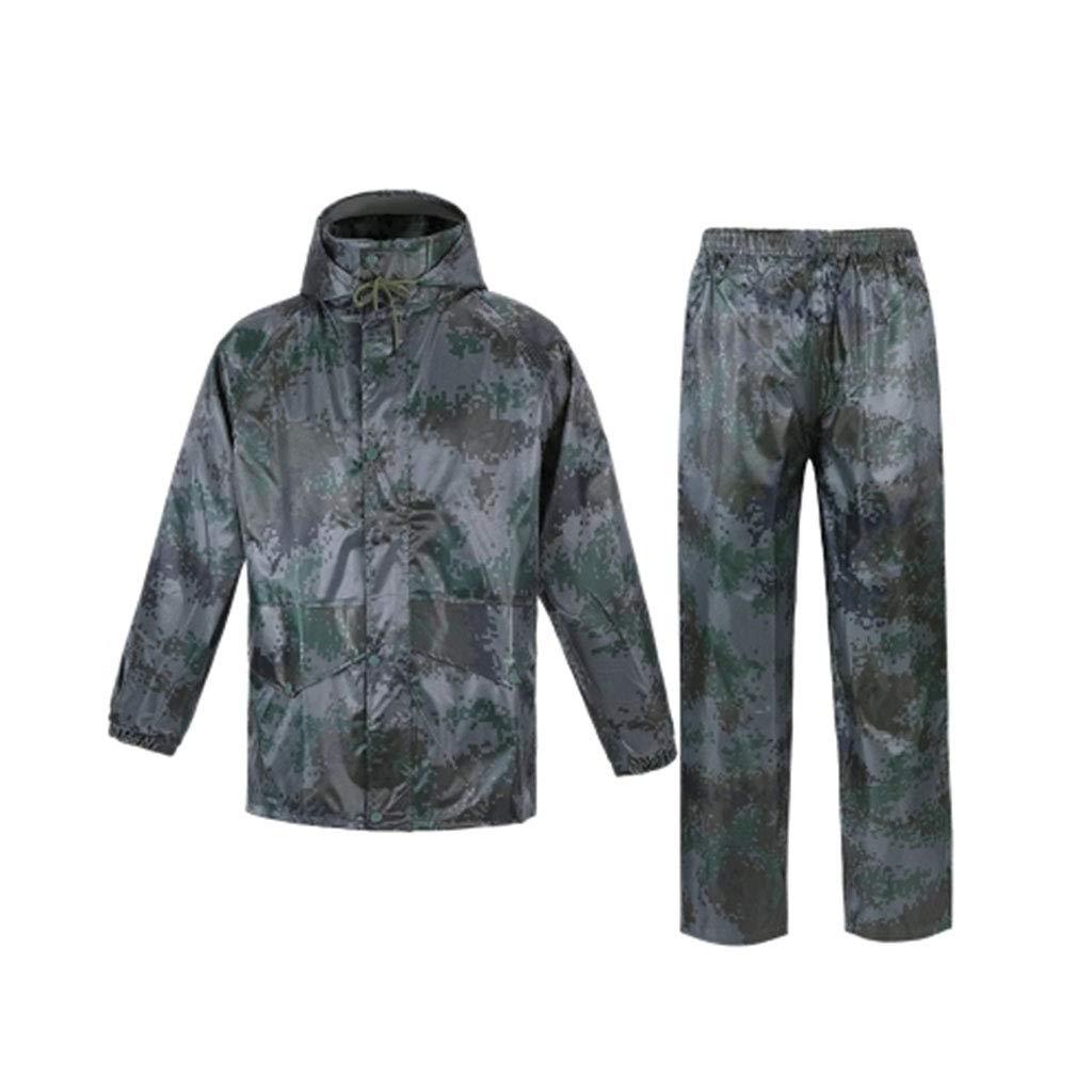 Camouflage S WSWJJXB Ensemble de Pantalons de Pluie Camouflage imperméable Imperméable imperméable Randonnée en Plein air imperméable Unisexe