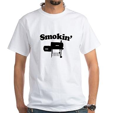 3f5fbaead CafePress Smokin' - Barbecue White T-Shirt Cotton T-Shirt | Amazon.com