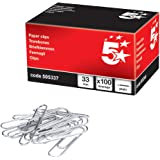 5 Star 505337 - Portaclips [100 piezas] [33mm]