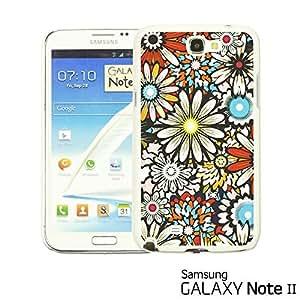 OnlineBestDigital - Flower Pattern Hardback Case for Samsung Galaxy Note 2 - Colorful Sunflower