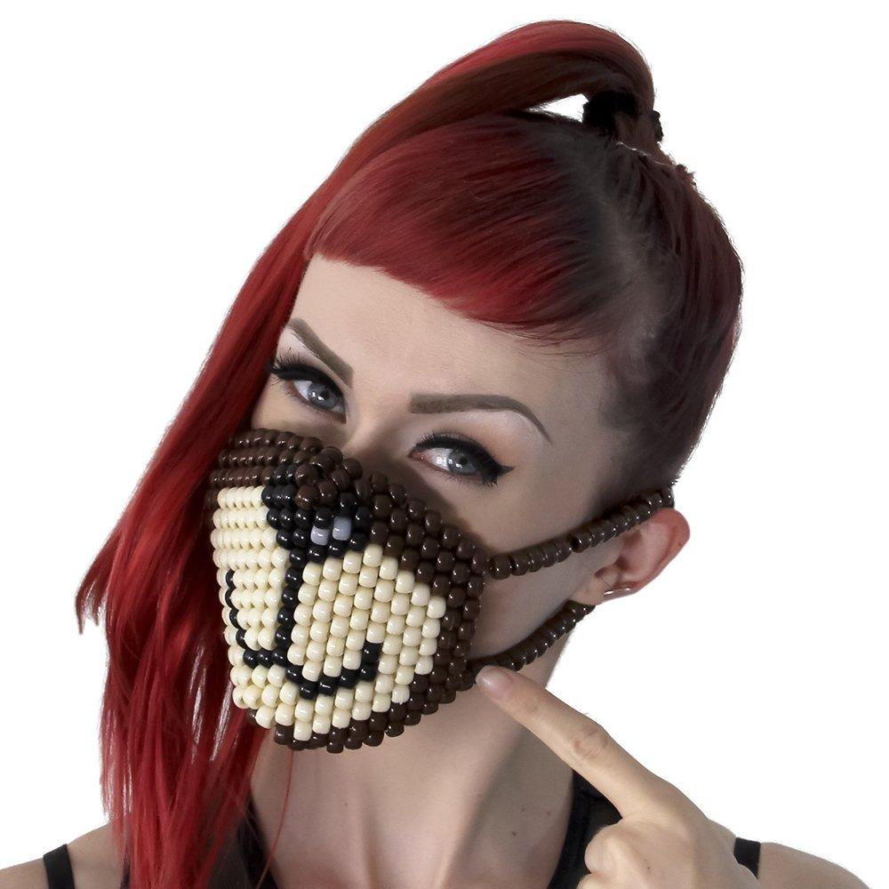 Brown Bear Surgical Kandi Mask by Kandi Gear